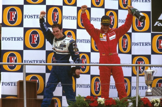 Jacques Villeneuve Michael Schumacher Ferrari Scuderia Ferrari F1Williams Williams Martini Racing F1 ~Jacques Villeneuve und Michael Schumacher ~