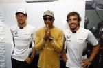 Jenson Button (McLaren) und Fernando Alonso (McLaren)