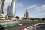 Valtteri Bottas (Williams), Max Verstappen (Red Bull), Lewis Hamilton (Mercedes) und Romain Grosjean (Haas)
