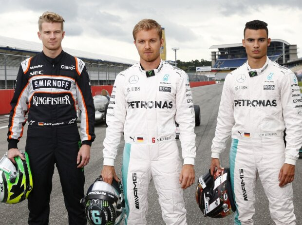Nico Hülkenberg, Nico Rosberg, Pascal Wehrlein