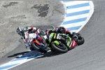 Jonathan Rea (Kawasaki) und Nicky Hayden (Honda)