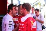 Fernando Alonso (McLaren) und Sebastian Vettel (Ferrari)