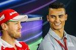 Sebastian Vettel (Ferrari) und Pascal Wehrlein (Manor)