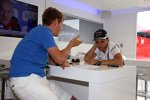 Felipe Massa (Williams) und Redakteur Dominik Sharaf