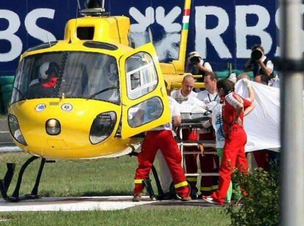 Felipe Massa, Unfall, Ungarn