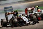 Sergio Perez (Force India) und Esteban Gutierrez (Haas)