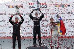 Simon Pagenaud (Penske), Will Power (Penske) und Carlos Munoz (Andretti)