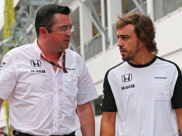 Eric Boullier, Fernando Alonso