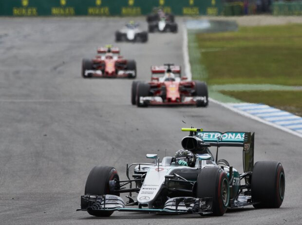 Nico Rosberg, Sebastian Vettel, Kimi Räikkönen