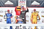 Michail Aljoschin (Schmidt), Will Power (Penske) und Ryan Hunter-Reay (Andretti)