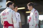 Jerome D'Ambrosio (Dragon), Sebastien Buemi (Renault e.dams) und Loic Duval (Dragon)