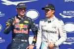 Max Verstappen (Red Bull) und Nico Rosberg (Mercedes)