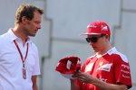 Alexander Wurz und Kimi Räikkönen (Ferrari)