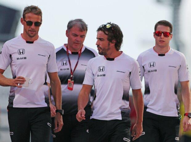 Jenson Button, Fernando Alonso, Stoffel Vandoorne