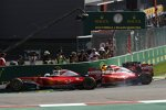 Sebastian Vettel (Ferrari), Kimi Räikkönen (Ferrari) und Max Verstappen (Red Bull)