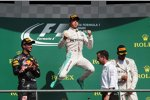 Daniel Ricciardo (Red Bull), Nico Rosberg (Mercedes) und Lewis Hamilton (Mercedes)