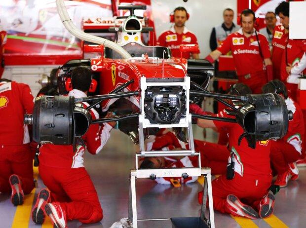Auto von Sebastian Vettel in der Box