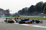 Jolyon Palmer (Renault), Felipe Nasr (Sauber) und Kevin Magnussen (Renault)
