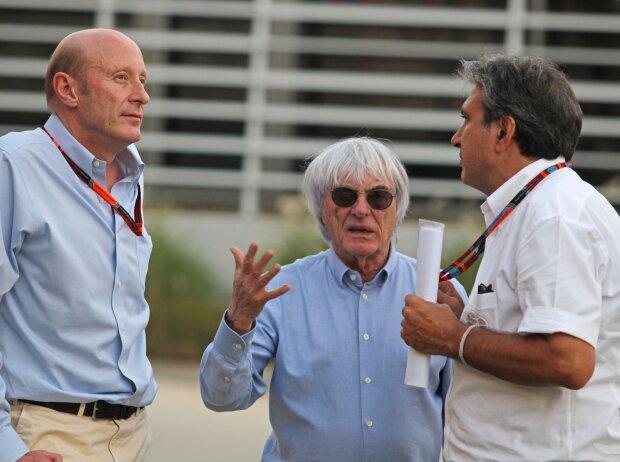 Donald Mackenzie, Bernie Ecclestone und Pasquale Lattuneddu
