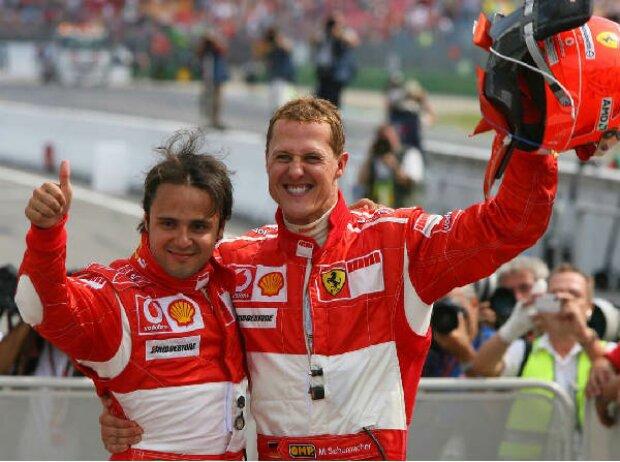 Felipe Massa und Michael Schumacher