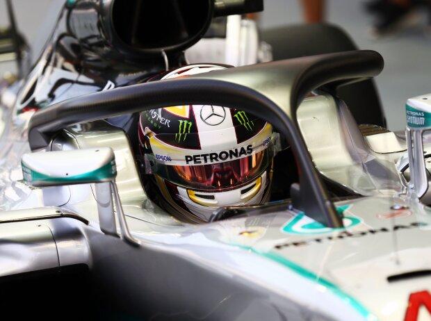 Lewis Hamilton testet Halo in Singapur 2016