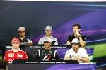 Kimi Räikkönen (Ferrari), Lewis Hamilton (Mercedes), Fernando Alonso (McLaren), Carlos Sainz (Toro Rosso), Pascal Wehrlein (Manor) und Jolyon Palmer (Renault)