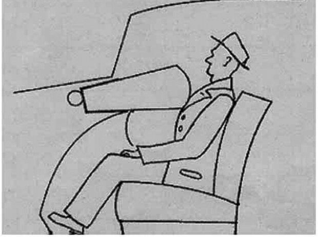 Erfinder des Airbags: Zeichnung aus der Patenturkunde von Walter Linderer.