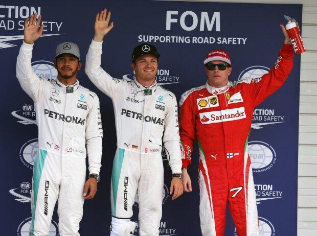 Lewis Hamilton, Nico Rosberg, Kimi Räikkönen