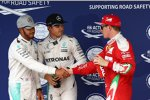 Lewis Hamilton (Mercedes), Nico Rosberg (Mercedes) und Kimi Räikkönen (Ferrari)