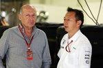 Ron Dennis (McLaren) und Yusuke Hasegawa (Honda)