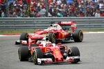 Kimi Räikkönen (Ferrari) und Sebastian Vettel (Ferrari)