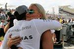 Lewis Hamilton (Mercedes) mit Lindsey Vonn