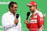 Juan Pablo Montoya und Sebastian Vettel (Ferrari)