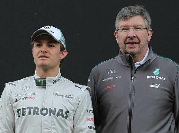 Nico Rosberg, Ross Brawn (Teamchef)
