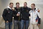 Marco Wittmann mit Wintersportlern