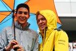 Esteban Ocon (Manor) und Kevin Magnussen (Renault)