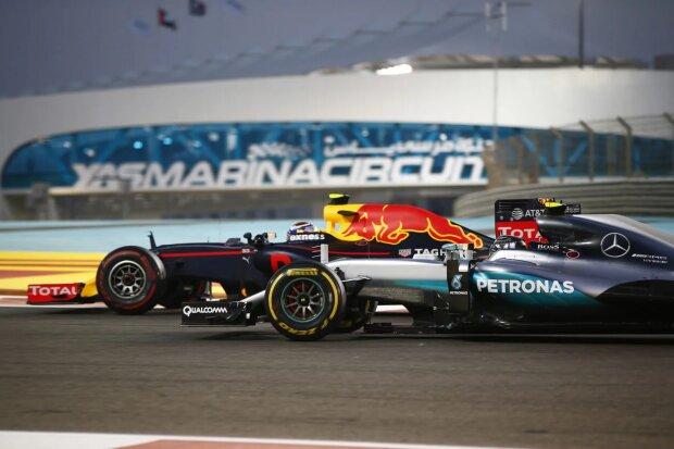 Max Verstappen Nico Rosberg Red Bull Red Bull Racing F1Mercedes Mercedes AMG Petronas Formula One Team F1 ~Max Verstappen (Red Bull) und Nico Rosberg (Mercedes) ~