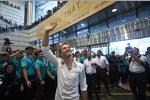 Nico Rosberg feiert in Kuala Lumpur