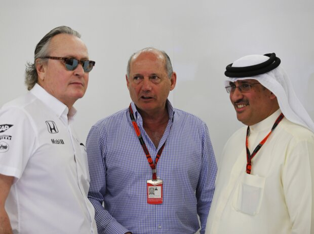Mansour Ojjeh und Ron Dennis