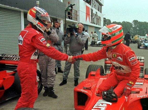 Michael Schumacher, Eddie Irvine