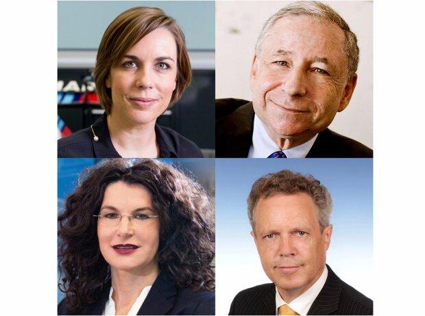 SPOBIS Programm 2017: Claire Williams, Jean Todt, Tina Müller, Wolfgang Dürheimer (v.l.o.n.r.u.)