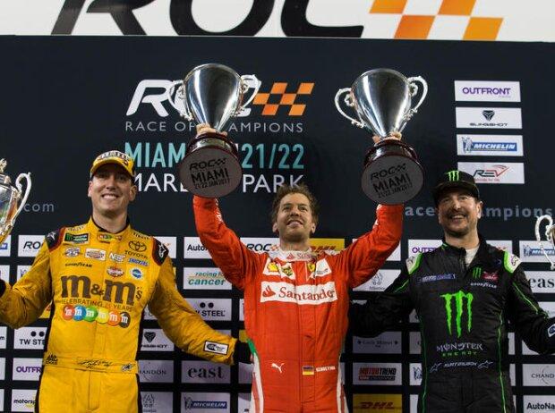 Sebastian Vettel, Kurt Bush, Kyle Bush