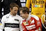 Jenson Button und Sebastian Vettel (Ferrari)