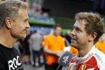 David Coulthard und Sebastian Vettel (Ferrari)