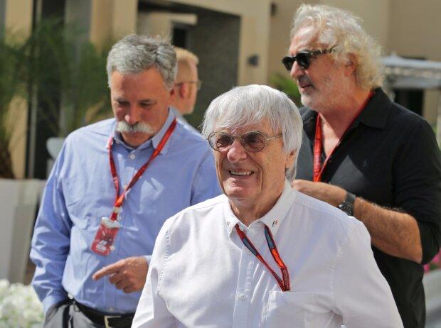 Bernie Ecclestone, Flavio Briatore, Chase Carey