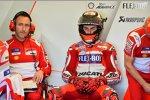 Cristian Gabbarini und Jorge Lorenzo (Ducati)