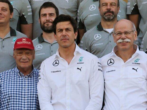Niki Lauda, Toto Wolff, Dieter Zetsche