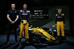 Sergei Sirotkin, Jolyon Palmer und Nico Hülkenberg (Renault)