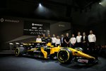 Bob Bell, Nico Hülkenberg, Jolyon Palmer, Alain Prost, Sergei Sirotkin und Cyril Abiteboul