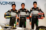 Sergio Perez (Force India), Alfonso Celis (Force India) und Esteban Ocon (Force India)